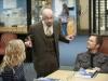 "COMMUNITY -- ""Biology 101"" Episode 301 -- Pictured: (l-r) Jim Rash as Dean Pelton, Joel McHale as Jeff -- Photo by: Lewis Jacobs/NBC/NBCU Photo Bank"